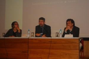 23/10. Maria Clara Paixão de Sousa, Pedro Puntoni e José Murilo Jr., Mesa de Abertura. Foto: Jorge Viana.