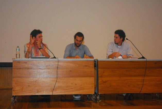 24/10. Cícero Inácio da Silva, Luis Filipe Silvério Lima, Álvaro Malaguti, Sessão de Debates. Foto: Jorge Viana.