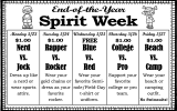 End-of-the-Year Spirit Week