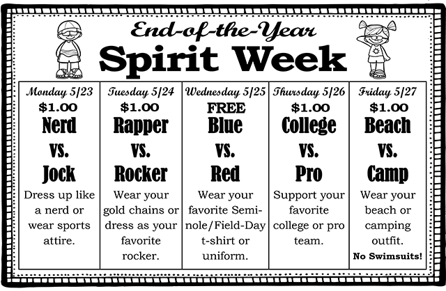End-of-the-Year Spirit Week 2nd version 2