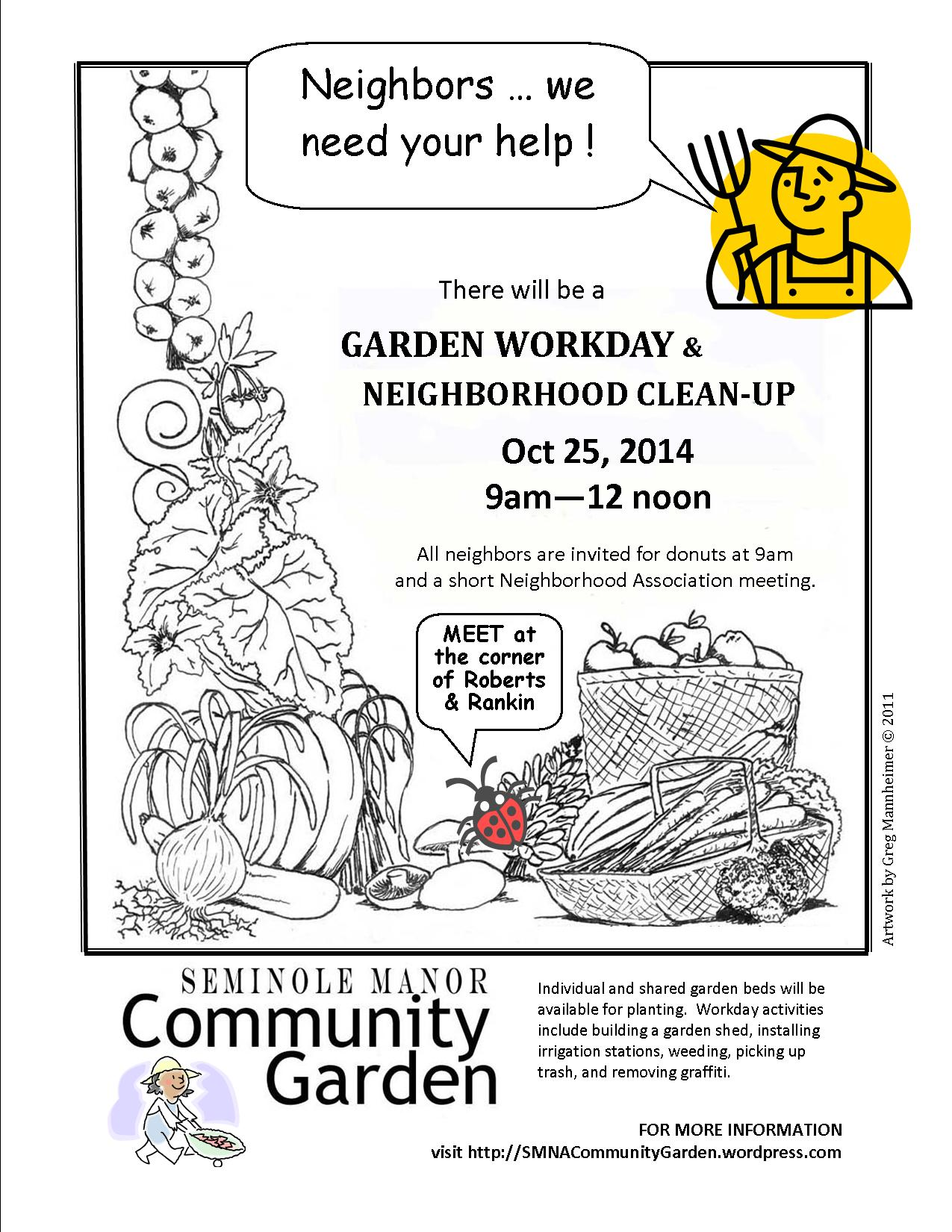 FREE DONUTS … with participation in neighborhood clean-up