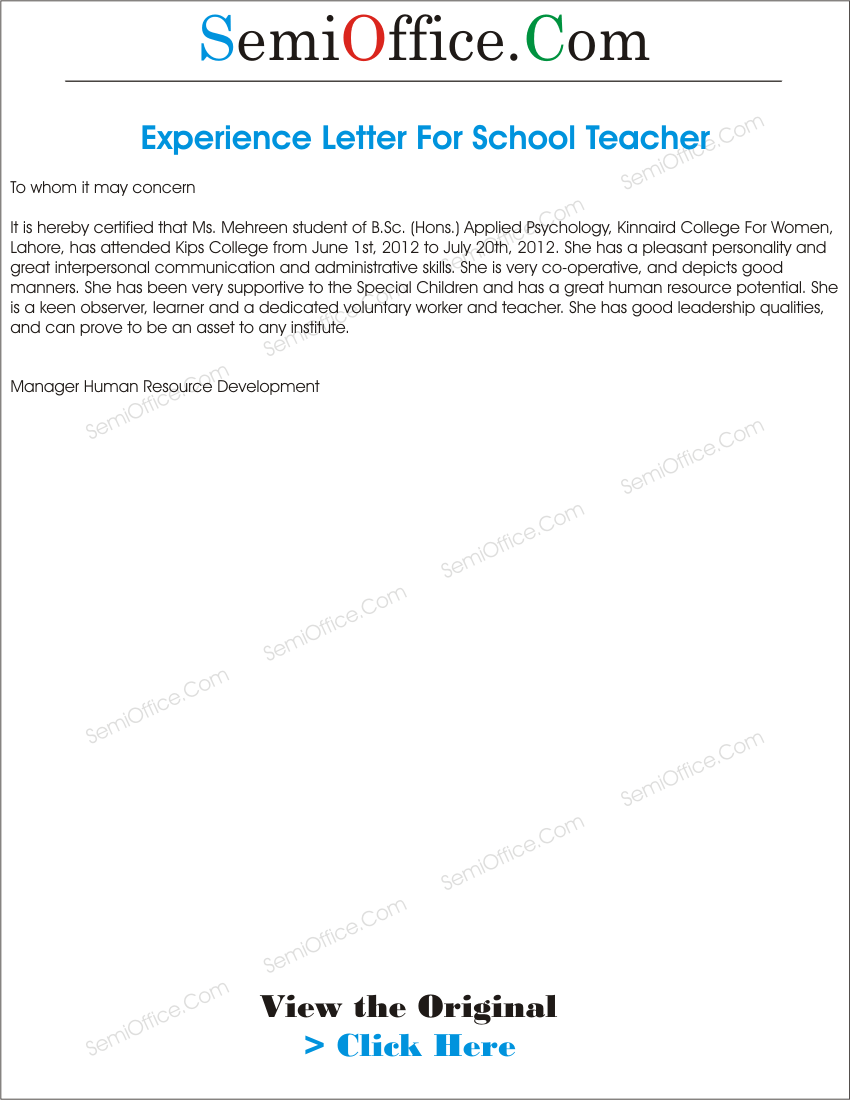 Work Experience Certificate Sample Letter Canada Immigration {Eddie