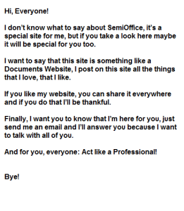 Message by CEO at Semioffice