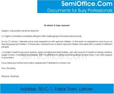 Sle Cover Letter For Teacher Istant Ealing 1400