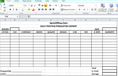 Daily Production Report Format In Excel  Daily Report Format