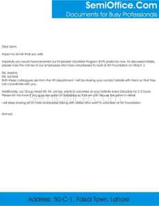 Sample Nomination Letter To Attend Training
