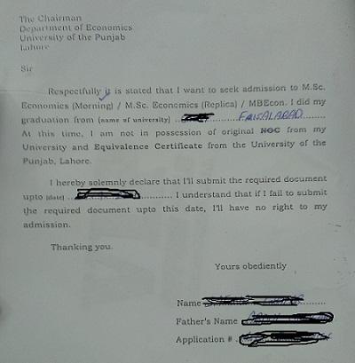 Sample Declaration Letter Format