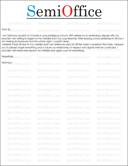 Apologylettersampleformistakegssl1 apology letter sample for boss or manager altavistaventures Image collections