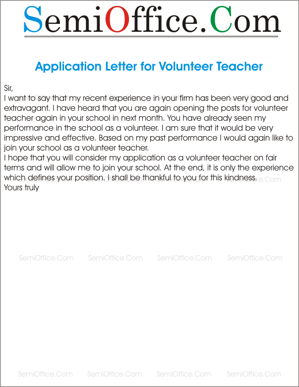 Application for re engagement as a volunteer teacher altavistaventures Images