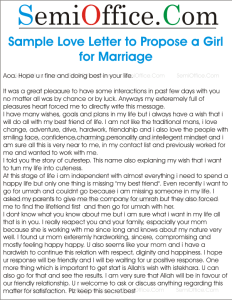 Letter to Propose a Girl for Marriage