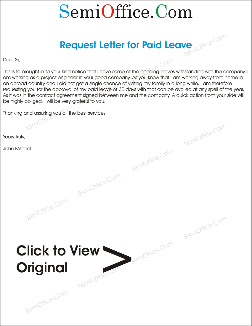 Application letter for paid leave applicationletterforpaidleavegssl1 spiritdancerdesigns Gallery