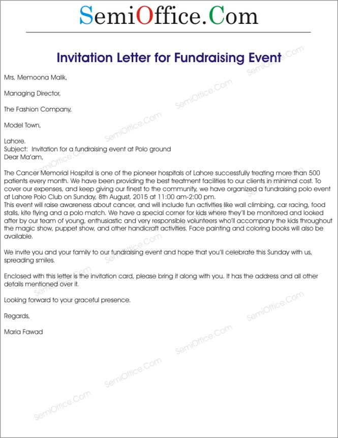 invitation letter for business event sample wedding