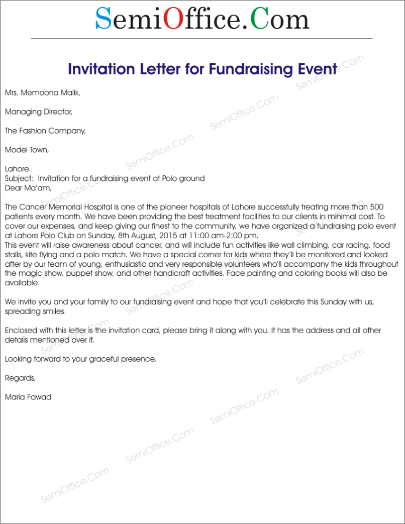 Charity event invitation letter sample invitationjdi invitation letter to charity event template invitationjpg com stopboris Images