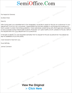 Application Letter For Employment In Police Service