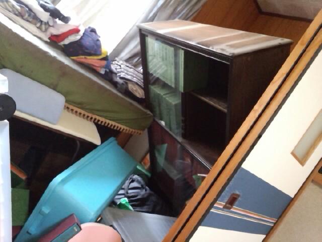 地震直後の自宅内