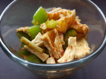 Dried Bean Curd and Celery Kimchi (Kkakdugi Style) - Semiserious Chefs