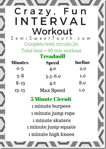 Crazy, Fun Inteval Workout
