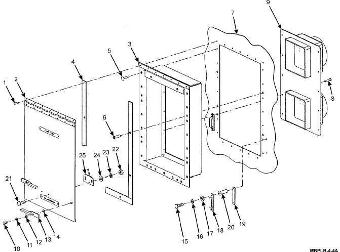 Figure 4-4. Fume Hood Vent Exhaust Door Assembly