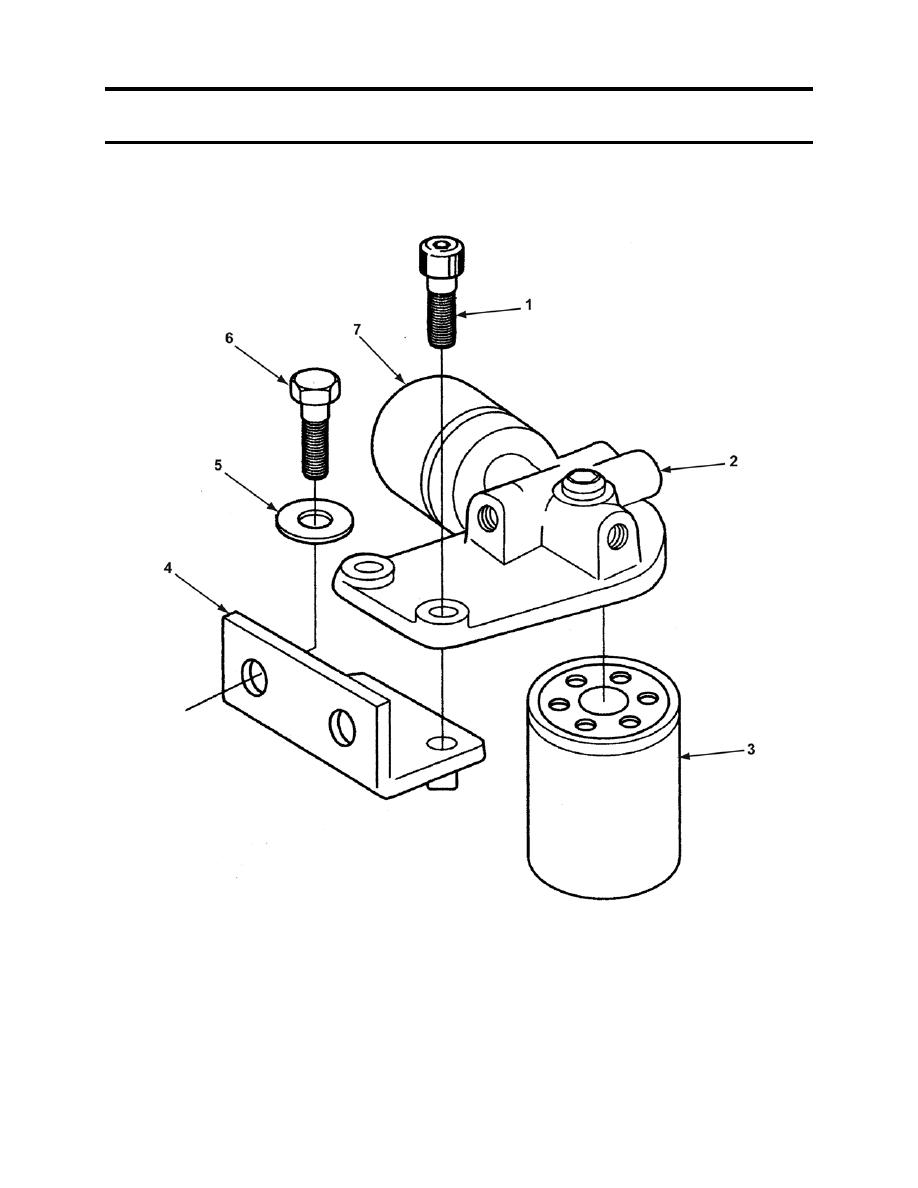 FIGURE 57. ENGINE FUEL FILTER ASSEMBLY