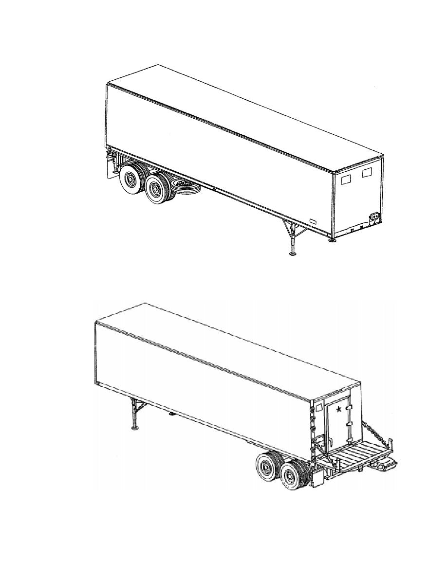 M129A4 Semitrailer, Right Front View