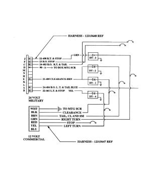Wiring Diagram, Voltage Converter Box (Excluding M129A4