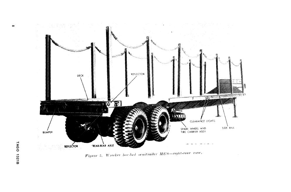 Figure 5. Wrecker Low-bed Semitrailer M270-right-rear view
