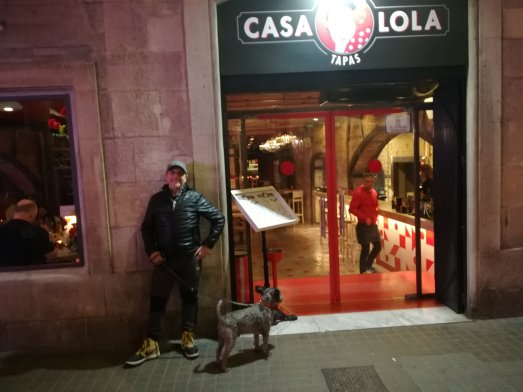 travelling Barcelona with Teddy