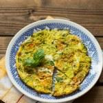 Frittata cotta in forno con fiori di zucca e cipolla di Tropea