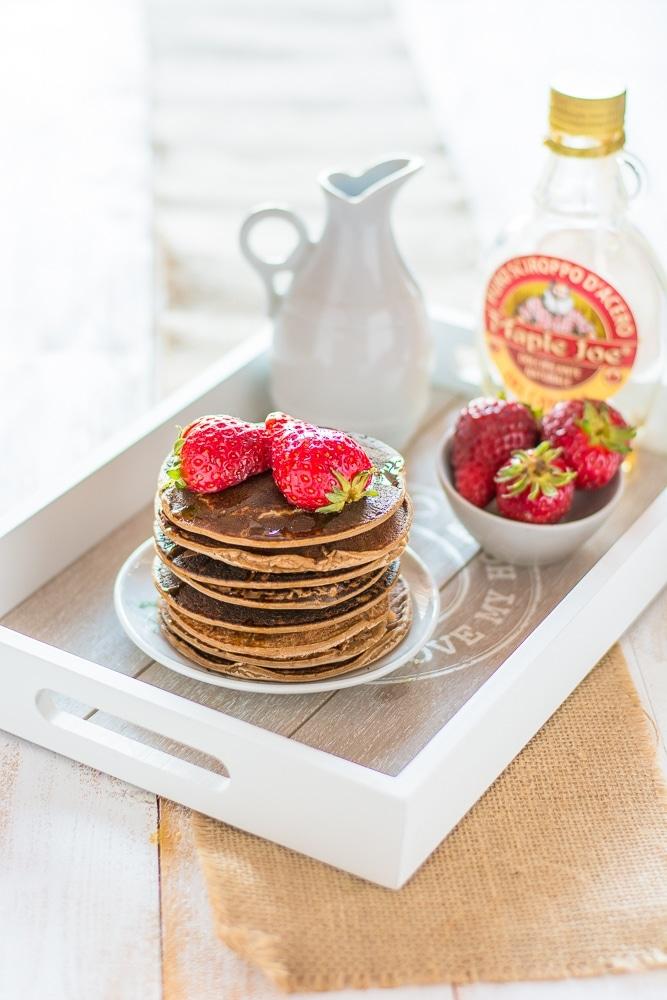 Pancake light vegani senza glutine