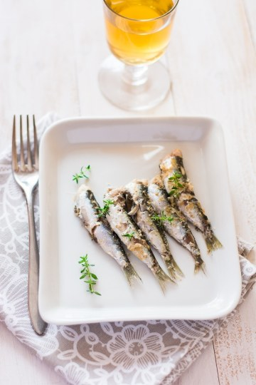 Sardine gustose senza grassi