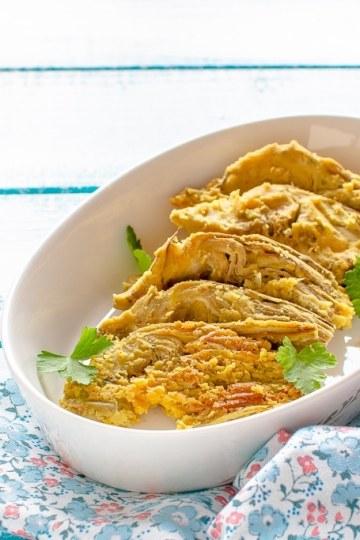 Carciofi in pastella senza glutine cotti in forno