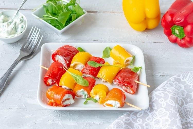 Spiedini freddi light con peperoni