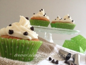 Cupcake con gocce di cioccolato❤