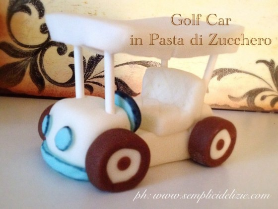 Golf Car in pasta di zucchero