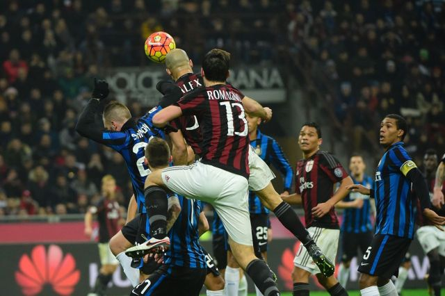 Alex scores vs Inter Milan on January 31, 2016 at the San Siro. | OLIVIER MORIN/AFP/Getty Images