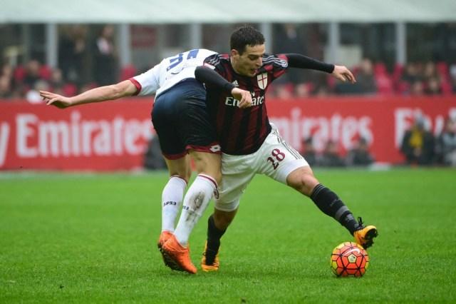 Giacomo shrugs off Genoa player enroute to a goal