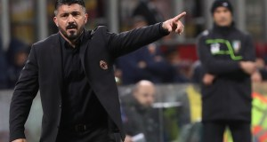 MILAN, ITALY - OCTOBER 31: AC Milan coach Gennaro Gattuso gestures during the serie A match between AC Milan and Genoa CFC at Stadio Giuseppe Meazza on October 31, 2018 in Milan, Italy. (Photo by Marco Luzzani/Getty Images)