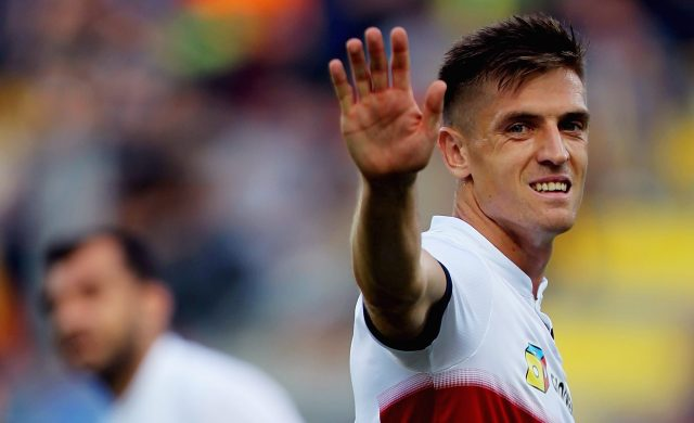 FROSINONE, ITALY - SEPTEMBER 30: Krzysztof Piatek reacts during the Serie A match between Frosinone Calcio and Genoa CFC at Stadio Benito Stirpe on September 30, 2018 in Frosinone, Italy. (Photo by Paolo Bruno/Getty Images)