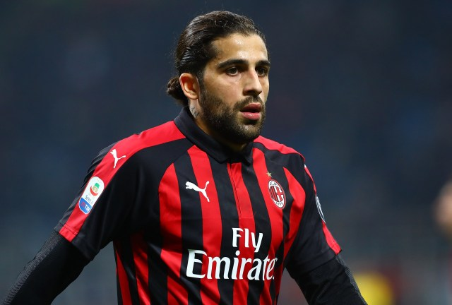 MILAN, ITALY - DECEMBER 29: Ricardo Rodriguez of AC Milan looks on during the Serie A match between AC Milan and SPAL at Stadio Giuseppe Meazza on December 29, 2018 in Milan, Italy. (Photo by Marco Luzzani/Getty Images)