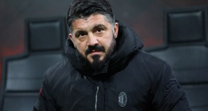 MILAN, ITALY - JANUARY 29: AC Milan coach Gennaro Gattuso looks on before the Coppa Italia match between AC Milan and SSC Napoli at Stadio Giuseppe Meazza on January 29, 2019 in Milan, Italy. (Photo by Marco Luzzani/Getty Images)