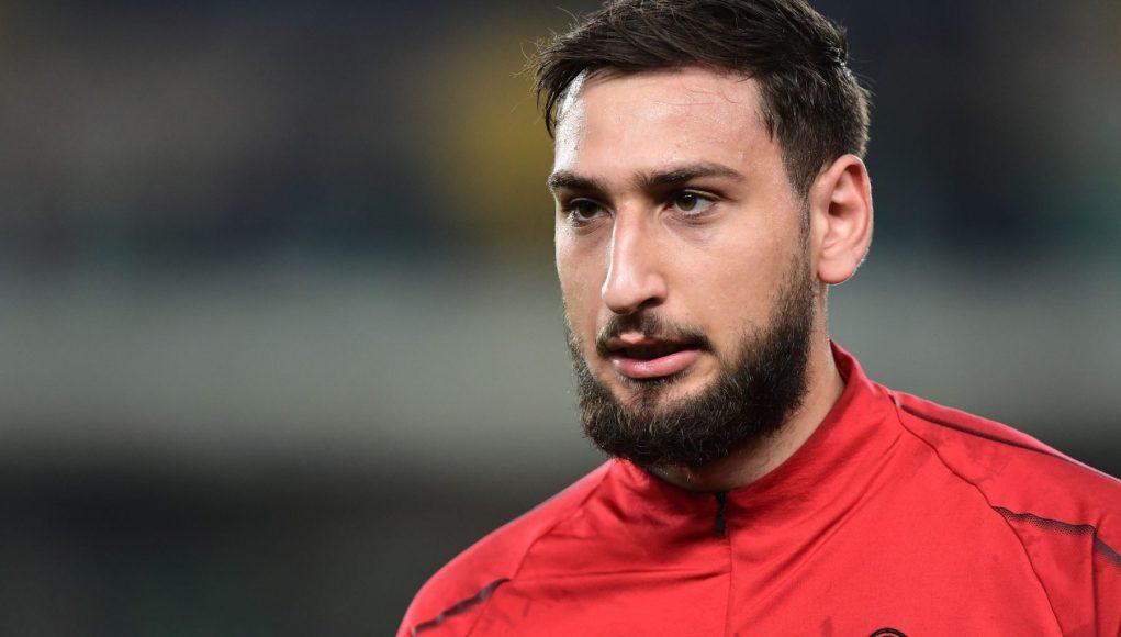 AC Milan's Italian goalkeeper Gianluigi Donnarumma