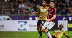 AC Milan's Polish forward Krzysztof Piatek