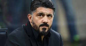 MILAN, ITALY - MAY 06: AC Milan coach Gennaro Gattuso looks on before the Serie A match between AC Milan and Bologna FC at Stadio Giuseppe Meazza on May 6, 2019 in Milan, Italy. (Photo by Marco Luzzani/Getty Images)