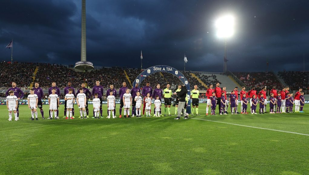 FLORENCE, ITALY - MAY 11: General view during the Serie A match between ACF Fiorentina and AC Milan at Stadio Artemio Franchi on May 11, 2019 in Florence, Italy. (Photo by Gabriele Maltinti/Getty Images)