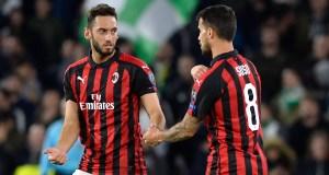 Hakan Calhanoglu Suso AC Milan