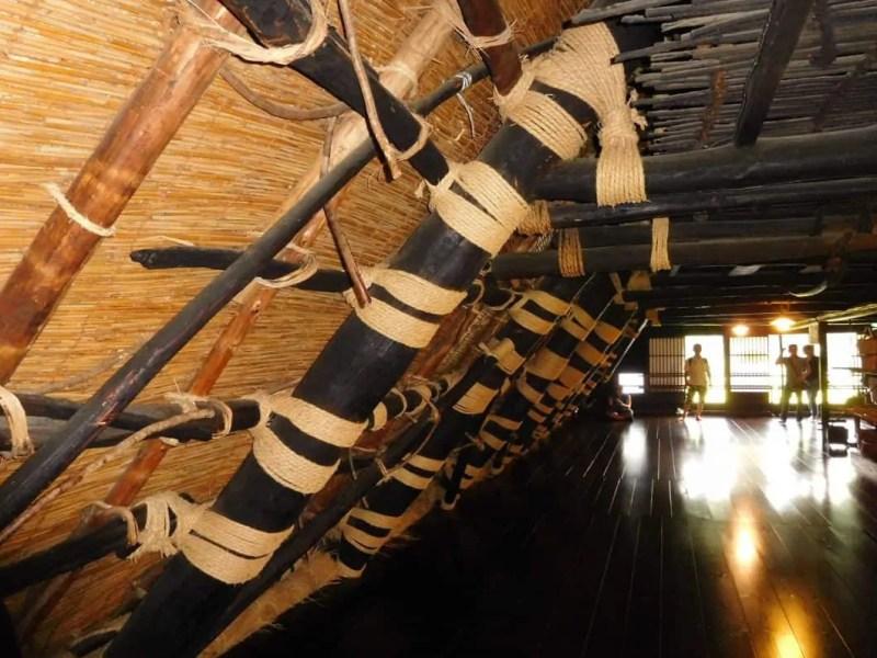 Shirakawago: interno di un'abitazione di una casa tipica