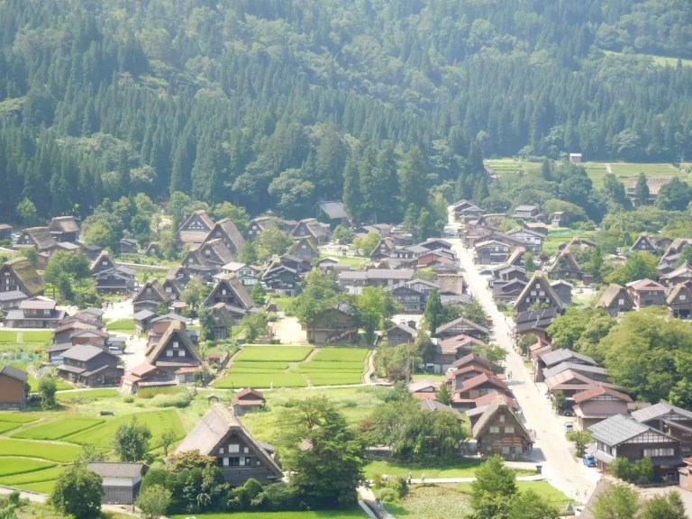 Shirakawago vista dall'alto