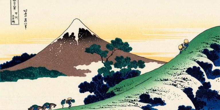 Pittura in stile giapponese che racconta la spiritualità nei confronti della natura