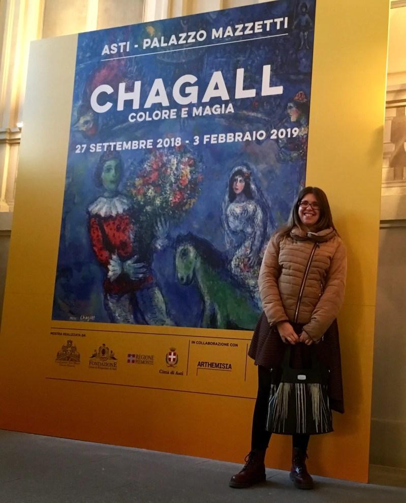 Cartellone con la mostra di Chagall