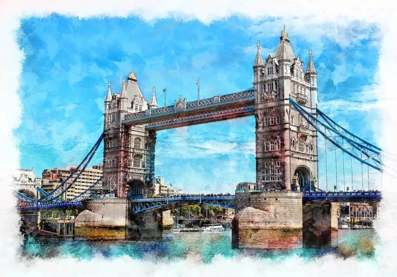 Londra e il Tower Bridge